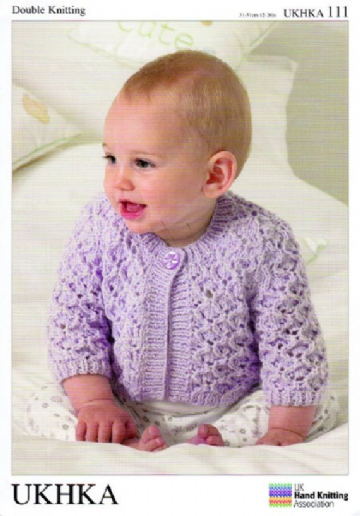 Baby Cardigan and Waistcoat Knitting Pattern UKHKA 111